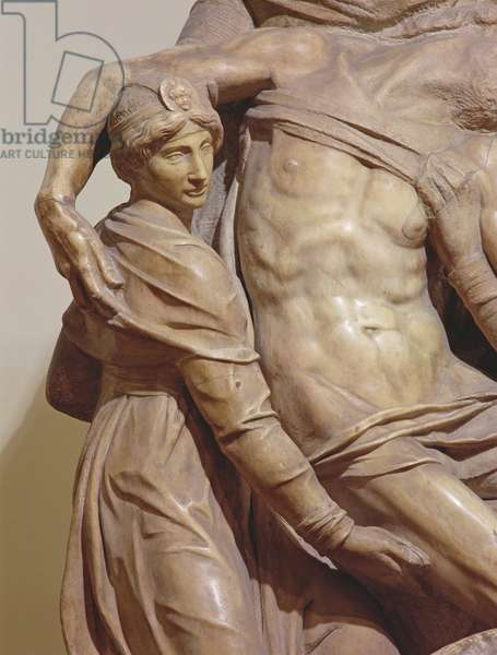 Detail of the Florence Pieta, c.1550 (marble)