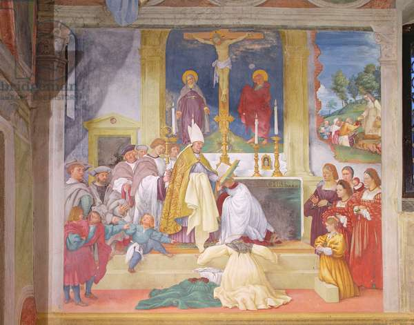 Clothing of Saint Brigida, 1524 (fresco)