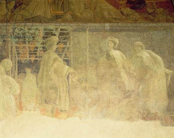 Drunkenness of Noah, c.1446 (damaged fresco)