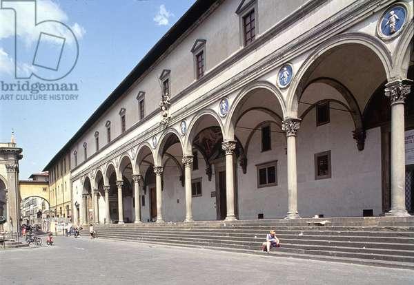 Loggia of the Ospedale degli Innocenti, built c.1420 (photo)