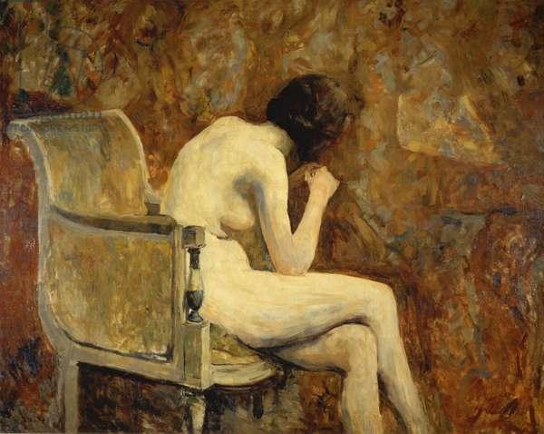 Nude in an armchair, 1890 (oil on canvas)