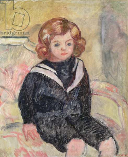 Child in sailor uniform, 1912 (oil on canvas)