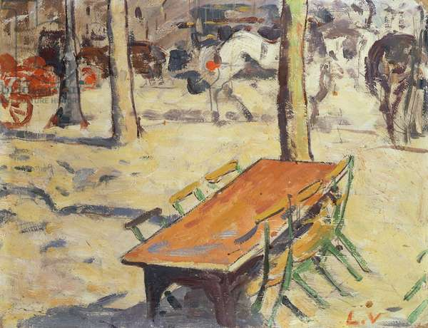 The Shaded Terrace, 1890 (oil on card)
