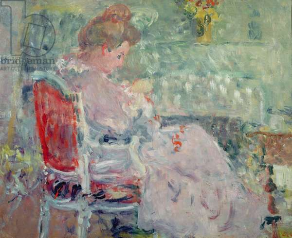 Woman sewing, 1902 (oil on canvas)