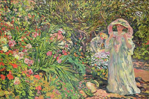 Madame Valtat in the garden, 1902 (oil on canvas)