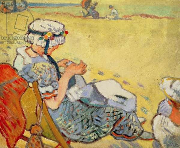 On the beach, 1913 (oil on canvas)