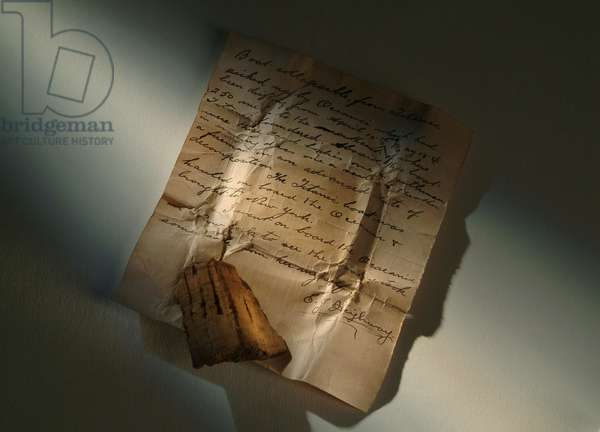Piece of cork from 'Collapsible A', one of the lifeboat's from 'RMS Titanic'