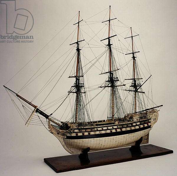 Model of the ship 'Le Vengeur du Peuple', c.1798 (bone)