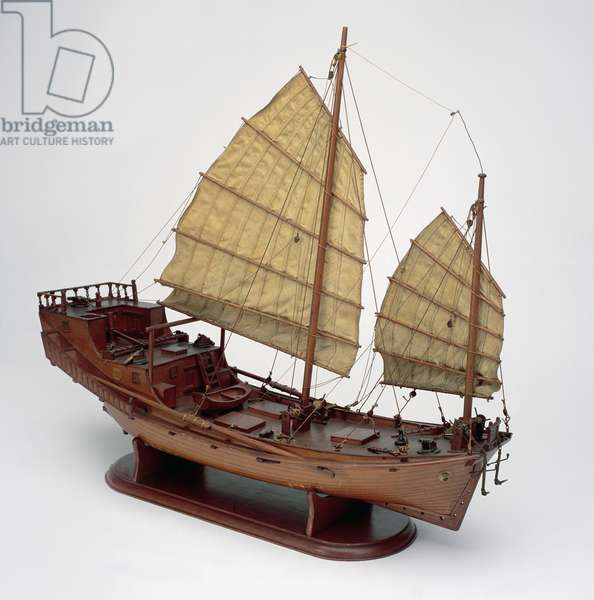 Model of a Chinese junk (wood)