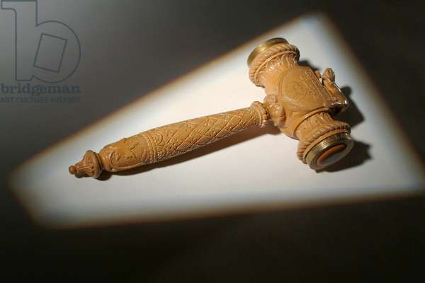 Souvenir gavel from the launch of SS Princess Marguerite, 1948 (wood)