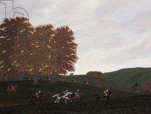 Gallops at Lambourn, Autumn