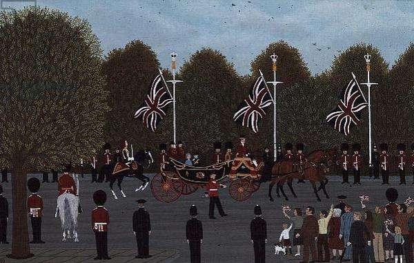 Princess Anne's Wedding (oil on canvas)