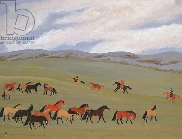Herding Horses, Inner Mongolia