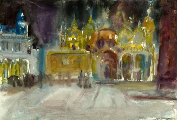 Dome at Night, 1992 (w/c on paper)