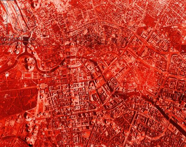Volcano Map of Berlin, 1996 (print)