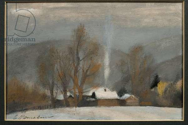 Landscape (oil on panel)