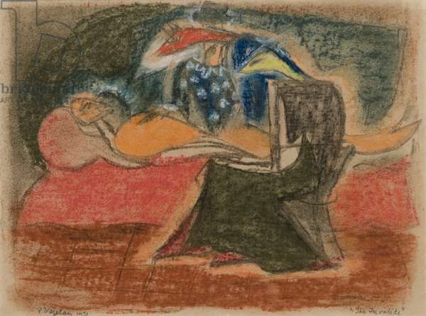 The Invalide, 1931 (chalk pastel on paper)