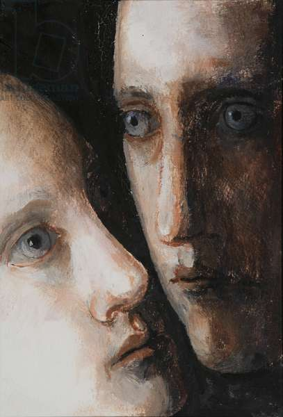 Diptych (oil on canvas) (see also 405219)