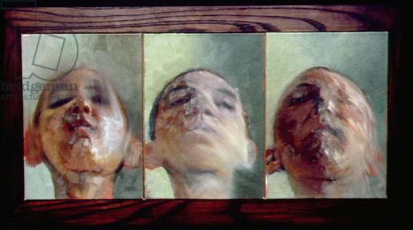 Head Study Triptych, 2000 (oil on board)