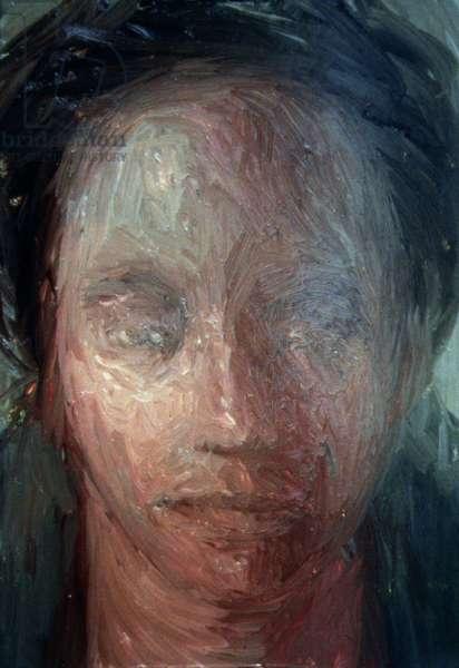 Head Study, 2000 (oil on board)