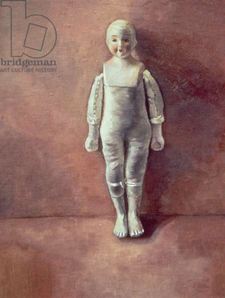 Panel from the triptych 'Doll Study', 2000 (oil on canvas on board)