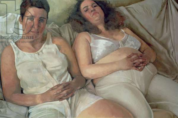 Two Women in White, 2000 (oil on canvas)