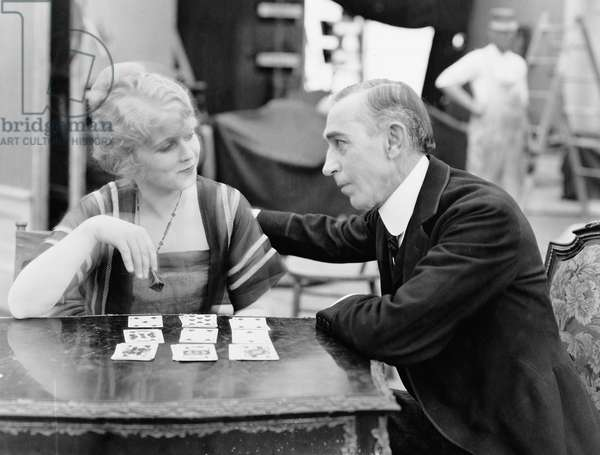 Man with Woman Playing Card Game