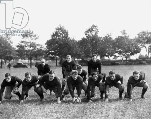 Football Team in Field