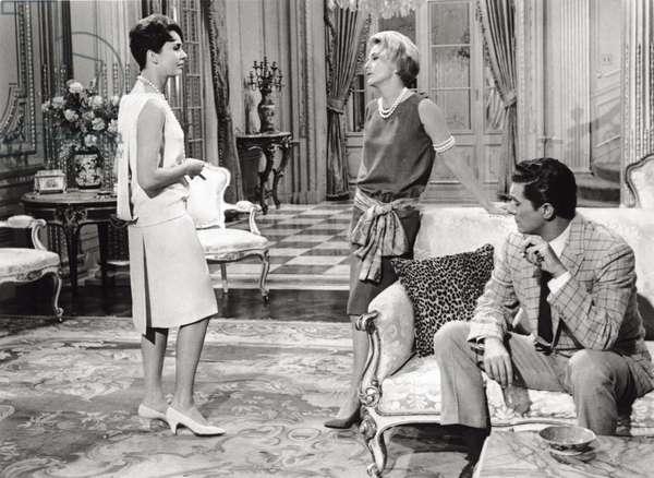 Jennifer Jones, Joan Fontaine and Cesare Danova