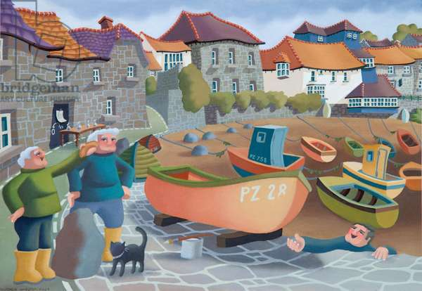 Cornish Fisherman's Lunch, 2001 (oil on canvas)