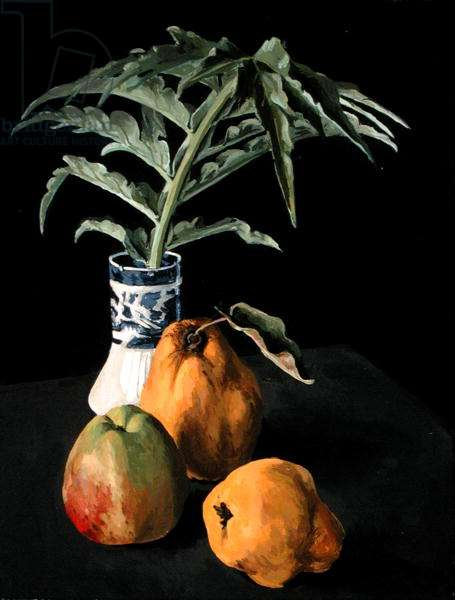 Still Life with Fruit, 2000 (oil on canvas)