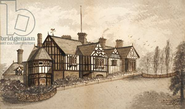 Wightwick Manor (ink on paper)