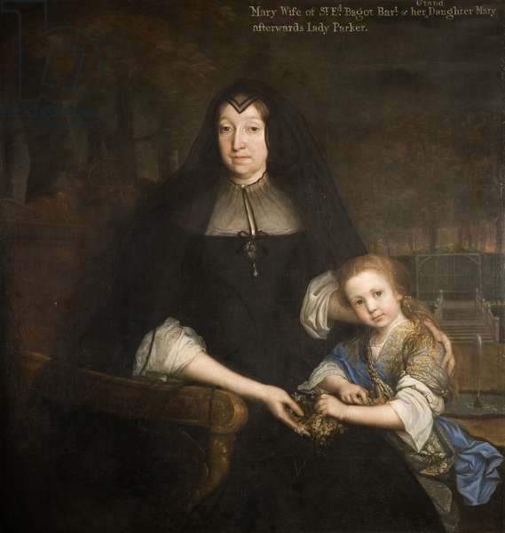 Lady Mary Bagot and her granddaughter Mary (oil on canvas)