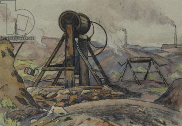 The Winding Gear (w/c & charcoal on paper)