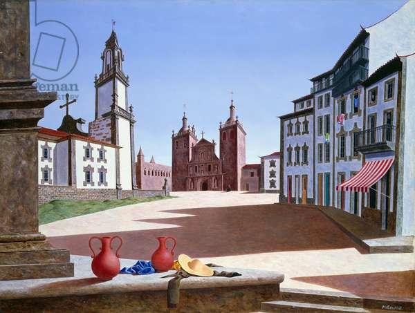Vizeu, Portugal, 1947 (oil on linen)