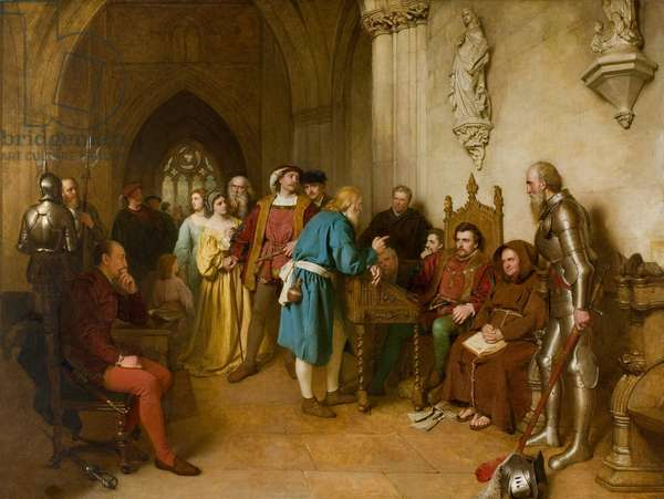 The Warning before Flodden, 1874 (oil on canvas)