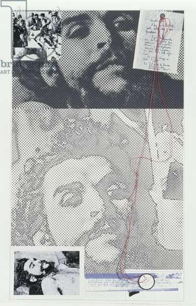Letter from Che (Valegrande Bolivia) 1969 (screenprint)