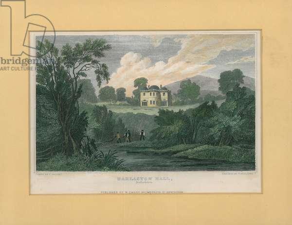 Darlaston Hall, Staffordshire (coloured engraving)