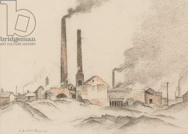 Brick Works (pastel on paper)