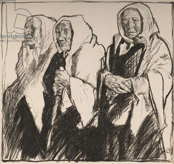 Belgian Peasants (charcoal on paper)