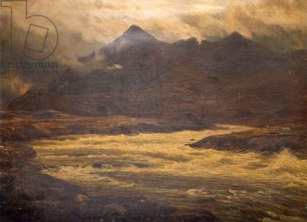 Mountain and Flood, Snir-Na Gillan, Skye, 1876 (oil on canvas)