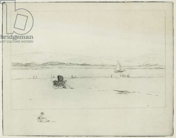 On the Estuary (etching)
