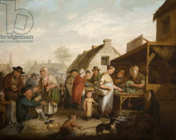 The Scottish Market Place, 1818 (oil on canvas)