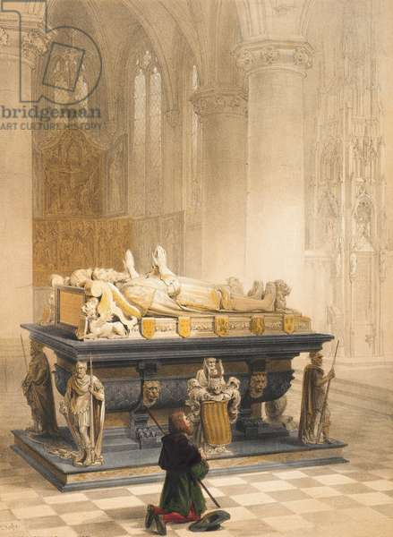 Tomb of the Merodes Family, Gheel, Sheet 6 from 'Haghe's Portfolio of Sketches: Belgium, Germany', c.1845-55 (colour litho)