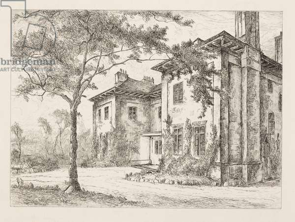 The Old Deanery, from 'Remnants of Old Wolverhampton, Vol. 1', published 1880 (etching)