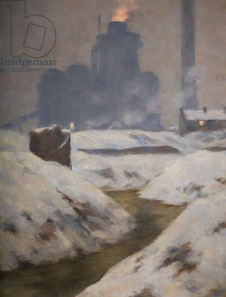Furnace and Snow, Landscape (oil on canvas)