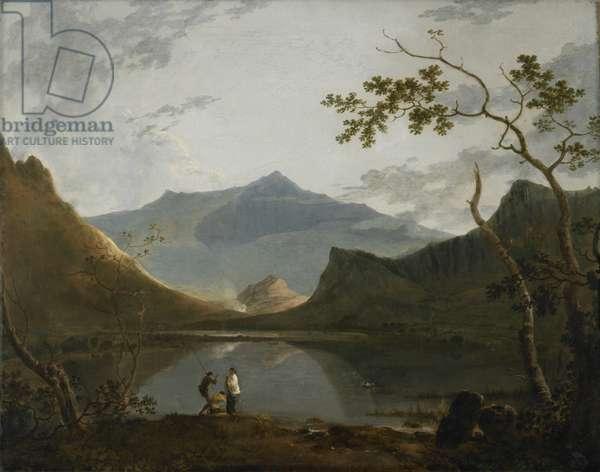Snowdon from Llyn Nanttle (oil on canvas)