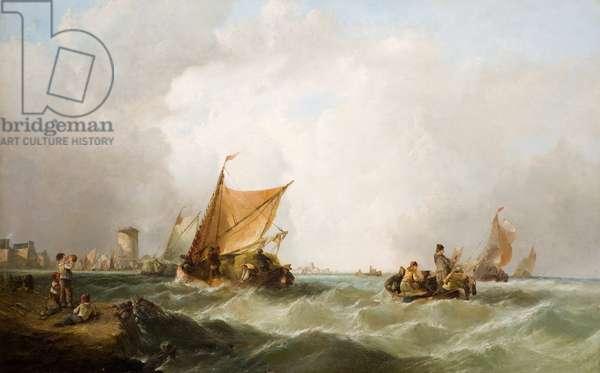 Coast of Holland (oil on canvas)