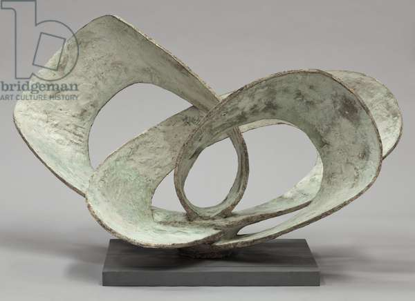Curved Forms (Pavan) 1956 (impregnated plaster, painted, on an aluminium armature)