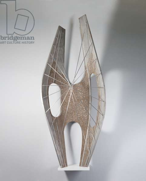 Winged Figure, 1961-62 (aluminium with aluminium rods & Isopon)